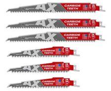 "6 Brand NEW MILWAUKEE (3)"" AX"" 9"" & (3) 6"" CARBIDE BLADES 48-00-5226/48-00-5221"