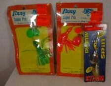 Lot: 3 Fishing Spinner Bait Lures: 2 Finny Super Pros, 1 Storm Pygmy Spin 1/8 Oz