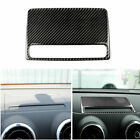 Fit For Audi Rs3 A3 S3 Carbon Fiber Center Dashboard Lcd Display Cover Trim New