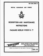 158 Page RCAF PACKARD MERLIN V1650 -3 -7 Rolls-Royce Maintenance Manual on CD