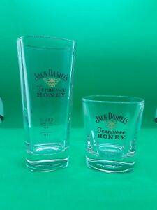 JACK DANIELS WHISKEY TENNESSEE HONEY PAIR OF GLASSES ROCKS AND HI BALL