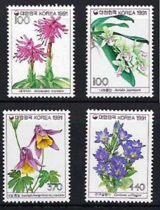 Korea 1991   Flower Flowers  Series  Stamp
