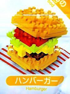 DAISO JAPAN Petit Block Food Hamburger Fast Food