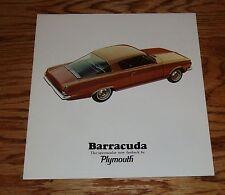 Original 1965 Plymouth Barracuda Sales Brochure 65