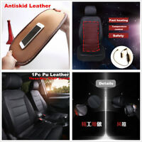 1 Pcs Car Front Seat Heated Cover Heater Seat Cushion 12V PU Leather For Winter