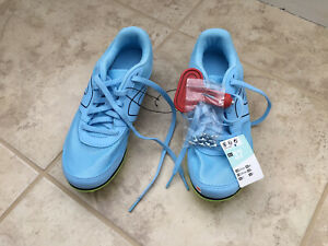 Kalenji Track Spikes, Size 4, Light Blue, Brand New