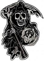 bc56 MC Chopper Biker Aufnäher Bügelbild Patch Totenkopf Skull Sons of Anarchy