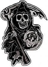 bc56 MC Chopper Biker Aufnäher Bügelbild Patch Totenkopf Skull Sons of Anarchy