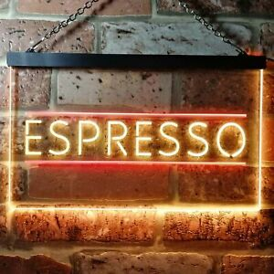 Espresso Shop Coffee Caf??Dual Color LED Neon Sign st6-i0300
