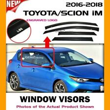 WINDOW VISORS for Toyota 16 17 18 Corolla iM / DEFLECTOR RAIN GUARD VENT SHADE