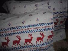 utica holiday dear red blue white flannel pair standard pillowcases 20 x 29