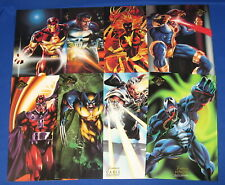 "Marvel Flair Fleer 7"" x 10"" Comic Art Print x8 Set 1994 Venom Wolverine Painted"