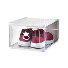 Thickened transparent plastic removable folding shoe box,WHITE 4 pieces