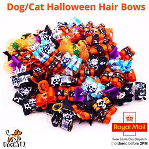 Halloween Dog Hair Band Bow, Bowties, Pet Cat, Kitten, Puppy, Boy Girl, XS S M L