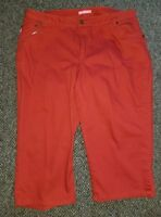 WOMAN WITHIN Rust Red Stretch Capri Pants Womans Plus Size 20W