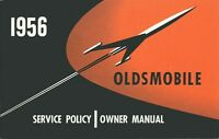 1956 Oldsmobile Owners Manual User Guide Reference Operator Book Fuses Fluids OE