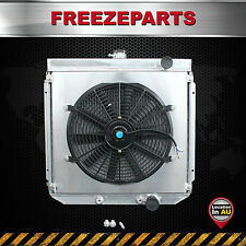 Aluminum Radiator+Fan Shroud For Ford Falcon XR XT XW XY 289 302 351 GT Windsor