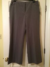 NWT Nicole Miller Womens Easy Care Dress Pants Size 18 Heather Charcoal