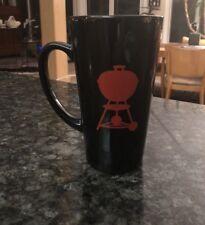 Weber Coffee Cup Mug Black Red Weber Kettle Grill Logo Super Cool NIB Large