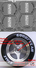 1/8 TIRE PAINT TMPLT GY MICHELIN PIRELLI for REVELL EIDAI GRIP ENTEX MONOGRAM DE