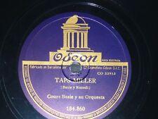 JAZZ 78 rpm RECORD Odeon COUNT BASIE & Orquesta TAPS MILLER / TECLADO AL ROJO
