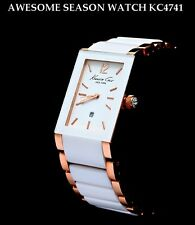 KENNETH COLE LADIE'S ROSE GOLD WHITE CERAMIC TOP WATCH KC4741