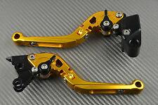 Paire de Levier leviers lever flip-up CNC Or Honda Dominator NX 650