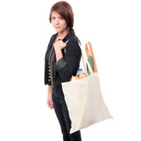 Promo Cotton Re Useable Shoulder Shopping Tote Plain Bag Eco Friendly 10 Litres