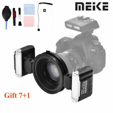 NEW Meike MK-MT24 Macro Twin Lite Flash with Trigger for Nikon DSLR Cameras LS