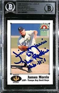 "1999 Arizona League JIM MORRIS ""The Rookie"" Signed Card #16 SLABBED BAS Witness"