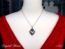 Ladies Girls Gothic Crystal Heart Crystal Shape Pendant Necklace Alchemy England