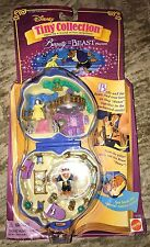 POLLY POCKET Tiny Collection Disney BEAUTY AND THE BEAST Playset Figures - RARE!