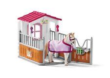Schleich 42368 PFERDEBOX mit LUSITANO STUTE Pferd Stall Futternapf