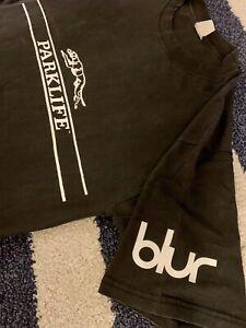 Blur PARKLIFE Vintage Britpop Shirt 1994 1990s 90s Damon Albarn Black Small RARE