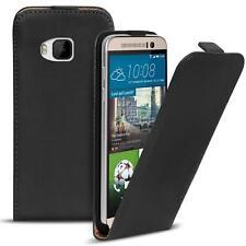 Flip Case HTC One M9 Hülle Pu Leder Klapphülle Handy Tasche Cover Schwarz