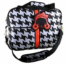 Harajuku Lovers HoundsTooth Messenger Bag Black White