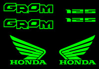 Honda GROM Decal Kit GREEN Sticker Motorcycle 125 graphics decals stickers