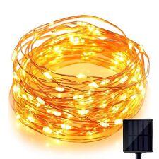 Solar Light 60 Pc Yellow LED Festival Copper String Light Diwali Home Decoration