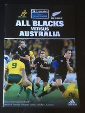 3058 New Zealand v Australia 2012 Rugby Programme 25th Aug All Blacks Wallabies