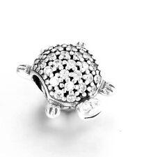 Authentic Genuine Pandora S925 791538CZ Sparkling Sea Turtle Charm Bead
