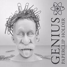 Mustard Genius Paperclip Holder Magnetic Einstein Hair paper clip geek office