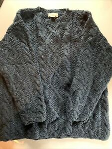 Crewcuts by J. Crew Boys Sweater Pure Wool Size S Blue Long Sleeve Cable Knit