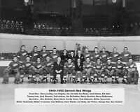 1950 NHL CHAMPIONS Detroit Red Wings Glossy 8x10 Photo Print Stanley Cup Poster