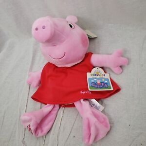 BUILD A BEAR Peppa Pig Unstuffed BABW BAB Pink in Red Dress Plush Stuffie NWT