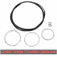 Motorcycle Scooter Cable Black Clutch Brake Throttle Cable Harness Kit