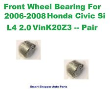 Front Wheel Bearing For 2006-2008 Honda Civic Si With ABS A set of 2