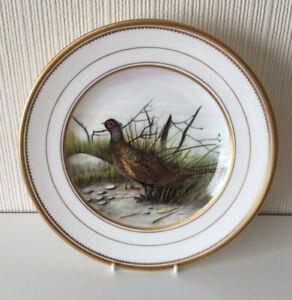 Vintage Royal Crown Derby Hand Painted Cabinet Plate ' Pheasant' J M'cLaughlin