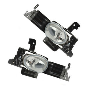 1 Pair Front Fog Light Driving Lamp With Bulb Fit For Honda Accord 11-12
