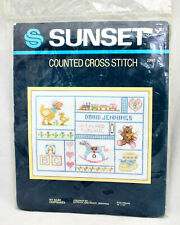 """NIP SUNSET Counted Cross Stitch Kit 2990 """"My Baby Keepsakes"""" for 9 x 12 Frame"""