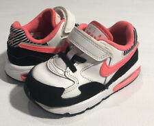 Nike Air Max St TDV 653822-101 Black, Pink Toddlers Girls Shoes Size 8C